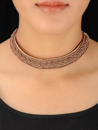 Cream-Tan Choker