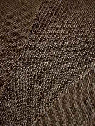 Brown - Vanilla Cotton Bamboo Fabric