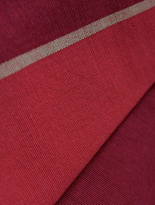 Claret- Stripe Cotton Fabric