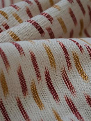 Ochre-Rust Cotton Ikat Blink Fabric
