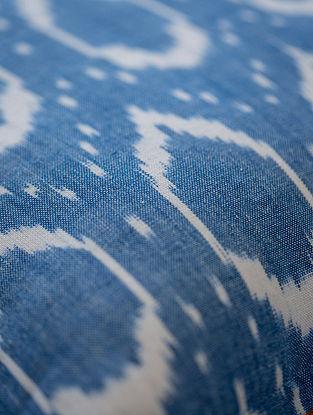 Blue Cotton Ikat Elipse Fabric