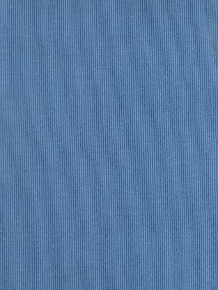 Blue Cotton Bamboo Regular Solid Fabric