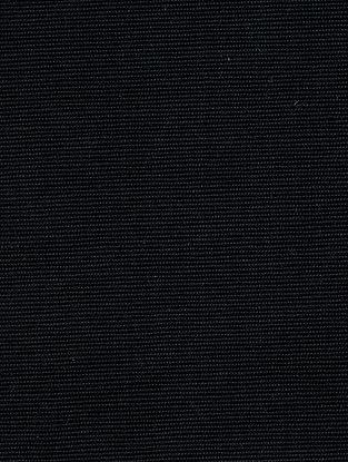 Black Cotton Bamboo Regular Solid Fabric
