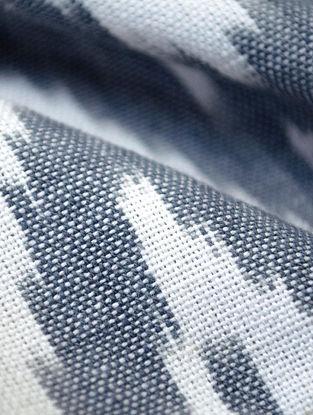 Grey Cotton Ikat Diamond Fabric