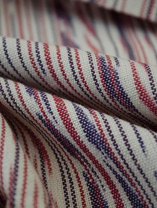 Purple-Maroon Cotton Ikat Haze Fabric