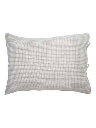 Linen Checks Duvet Cover and 2 Pillow Shams by Yamini