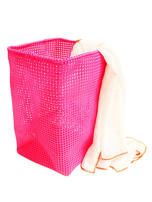 Rose Hand Knotted Plastic Utility Basket