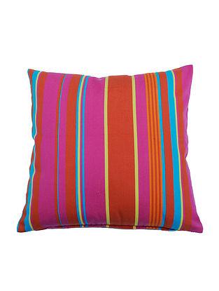 Stripes Samarkand Cotton Cushion Cover - 16in x 16in