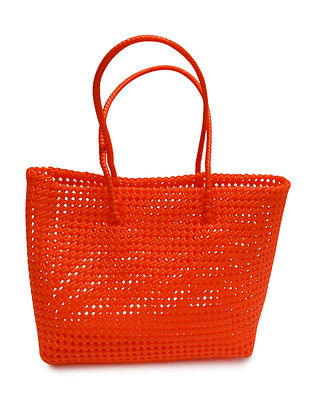 Orange Plastic Shopping Bag