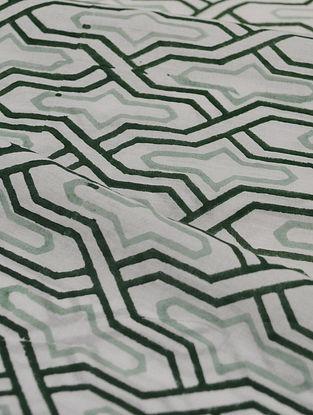 Smoky Cotton Trellis Design Fabric by YAMINI