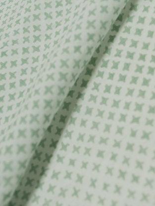 Mist Green Cotton Mesh Design Fabric by YAMINI