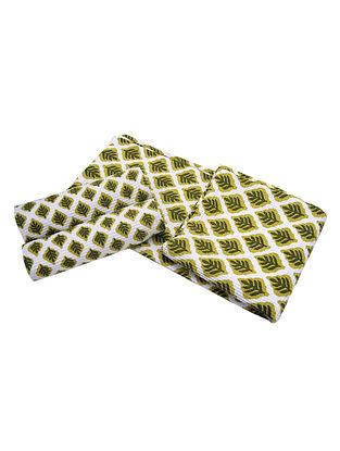 Leaf Pattern Bath Towel-1 & Face Towel-2