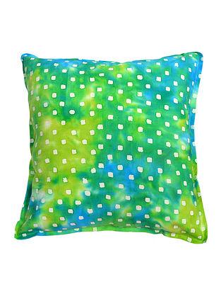 Green Square Blocks Batik Cushion Cover 16in x 16in