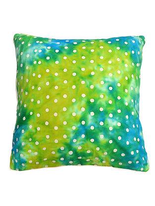 Green Polka Dots Batik Cushion Cover 16in x 16in