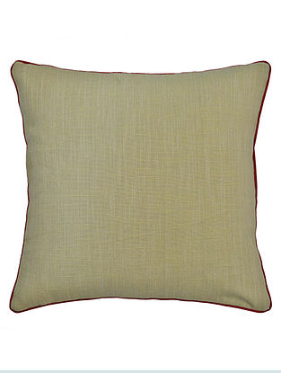 Grey Cotton Marakesh Solid Cushion Cover 16in x 16in