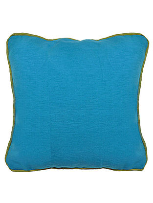 Blue Cotton Bamboo Solid Cushion Cover 16in x 16in
