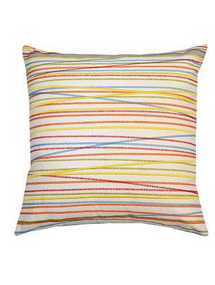 Multi-Color Cotton Embroidered Calypso - Channel Design Cushion Cover 16in x 16in