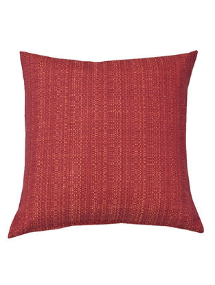 Orange Cotton Yarn dyed Textutred Cushion Cover 16in x 16in