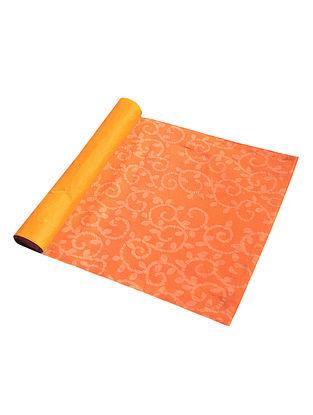 Orange Cotton All Over Printed Batik Trellis Placemat (Set of 6) 19in x 13in