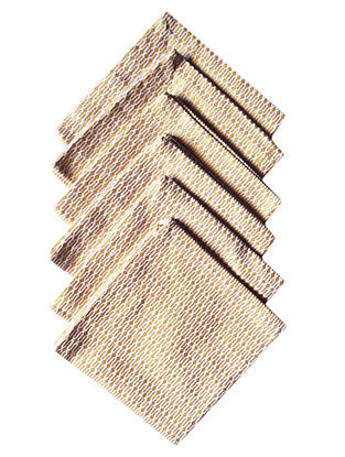 Golden-White Cotton Metallic Printed Cocktail Napkins (Set of 6) 10in x 10in