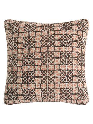 Geometric Pigment Overlap Block Printed Cushion Cover By Yamini