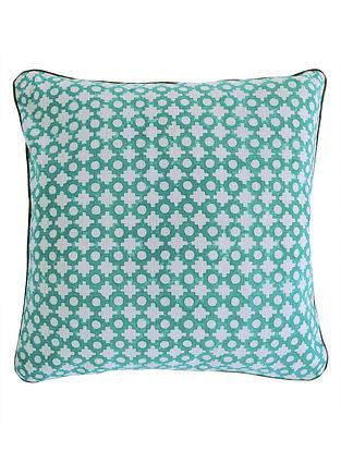 Pigment Geometric Dots Block Printed Cushion Cover By Yamini