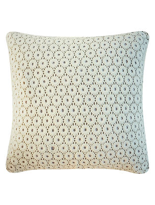 Lace and Contrast Backing Linen Cushion Cover By Yamini