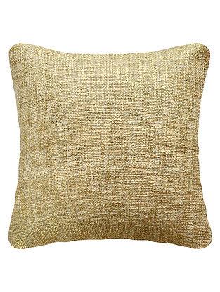 Gold Cotton Fancy Yarn Cushion Cover 16in x 15.5in
