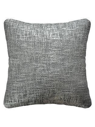 Silver Cotton Fancy Yarn Cushion Cover 16in x 15.5in