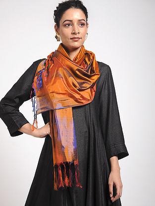 Orange Ikat Katan Silk Stole