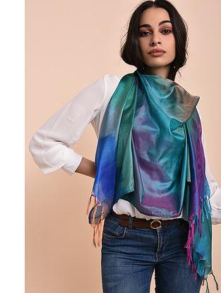 Multicolored Ikat Katan Silk Stole