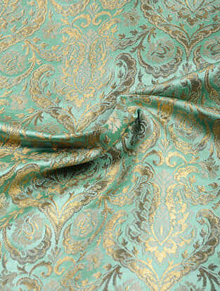 Green Benarasi Kimkhwab Brocade Fabric