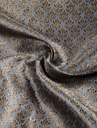 Grey Benarasi Katan Silk Fabric