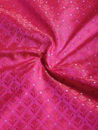 Pink Benarasi Katan Silk Fabric