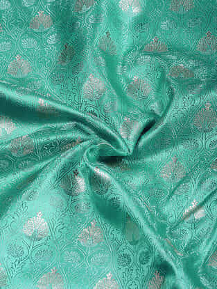 Green Benarasi Katan Silk Fabric