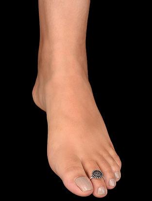 Tribal Silver Adjustable Toe Rings (Set of 2)