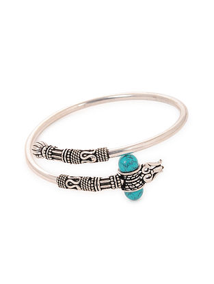 Tribal Silver Bracelet with Turquoise