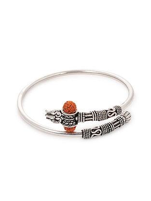 Tribal Silver Bracelet with Rudraksh