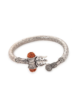 Tribal Silver Cuff with Rudraksh
