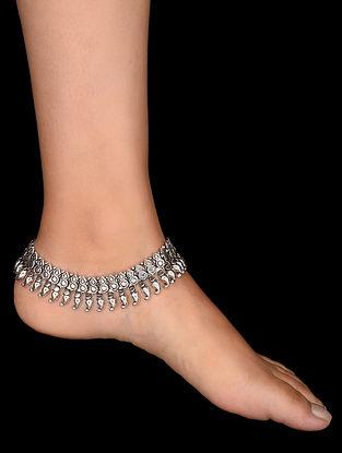Tribal Silver Anklets (Set of 2)