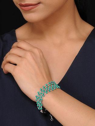 Turquoise Beaded Silver Bracelet