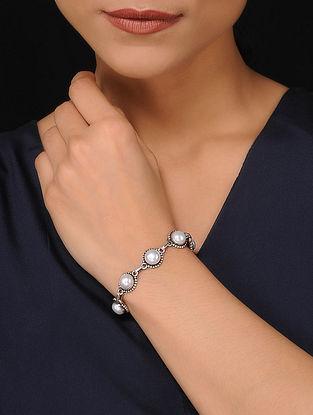 Pearl Beaded Silver Bracelet