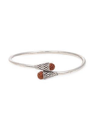 Silver Bracelet with Rudaraksh