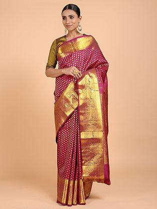 Magenta Kanjivaram Silk Saree