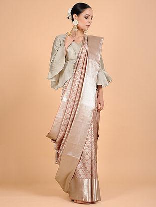 Peach Kanjivaram Silk Saree