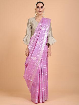 Lavender Kanjivaram Silk Saree