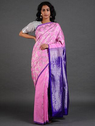 Pink-Blue Venkatgiri Silk Saree
