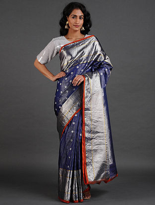 Dark Blue Venkatgiri Silk Saree