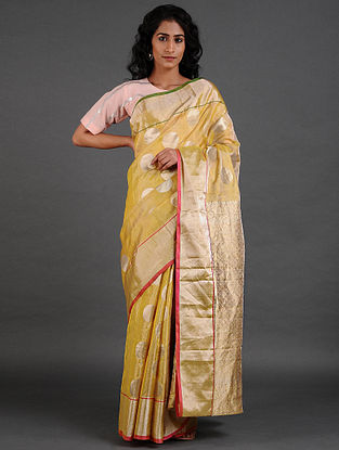Yellow Venkatgiri Silk Saree