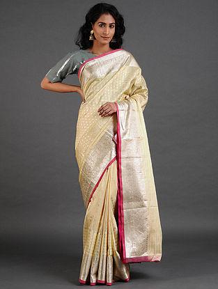 Cream Venkatgiri Silk Saree
